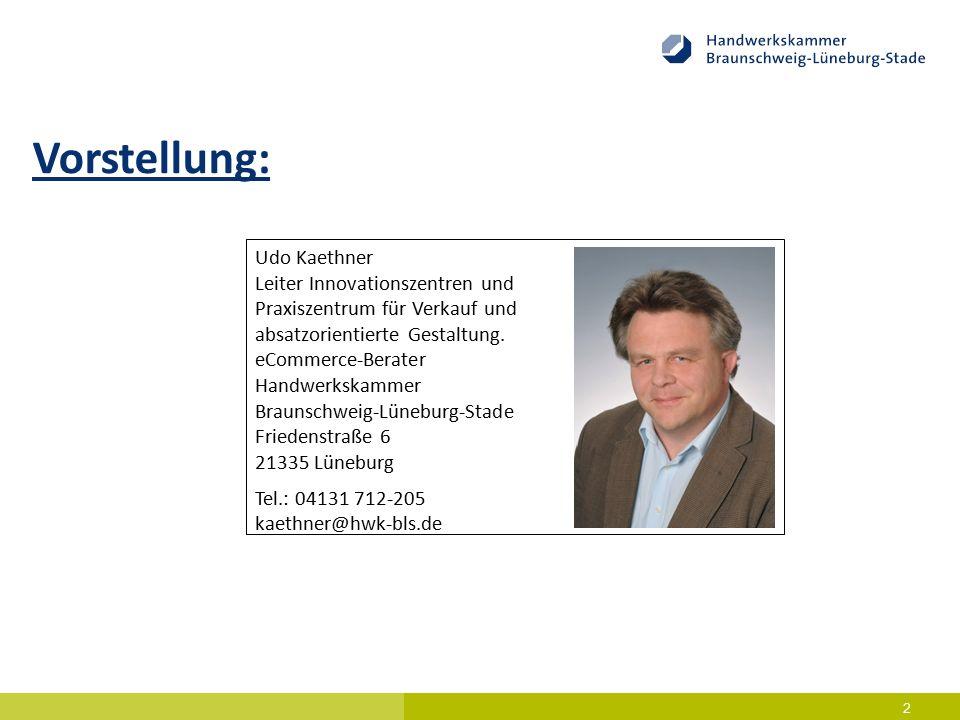 13 Digitalisierung im Kontext der Beratung – Historie, Ist-Zustand und Ausblick Das Projekt eBusiness-Lotse 2012 - 2015  Angebot von Informationen im Bereich Digitalisierung  Gemeinsam mit der HWK Hannover im Projekt