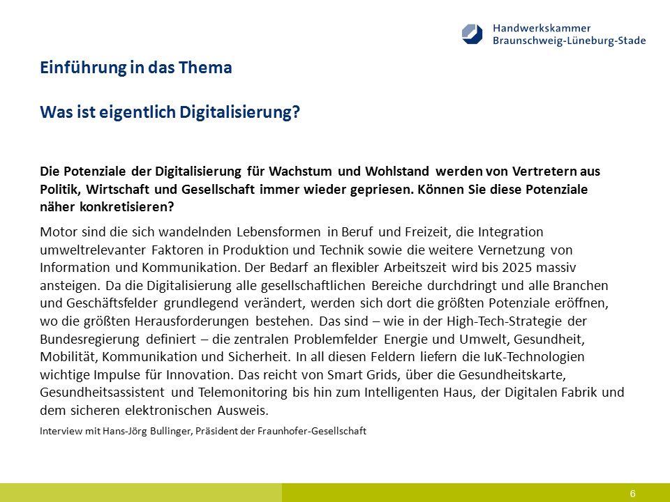 Einführung in das Thema Was ist eigentlich Digitalisierung.