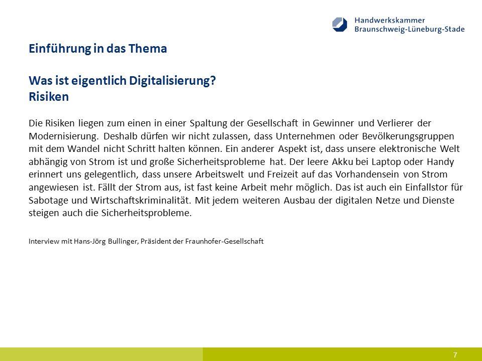 Digitalisierung im Kontext der Beratung – Historie, Ist-Zustand und Ausblick 8