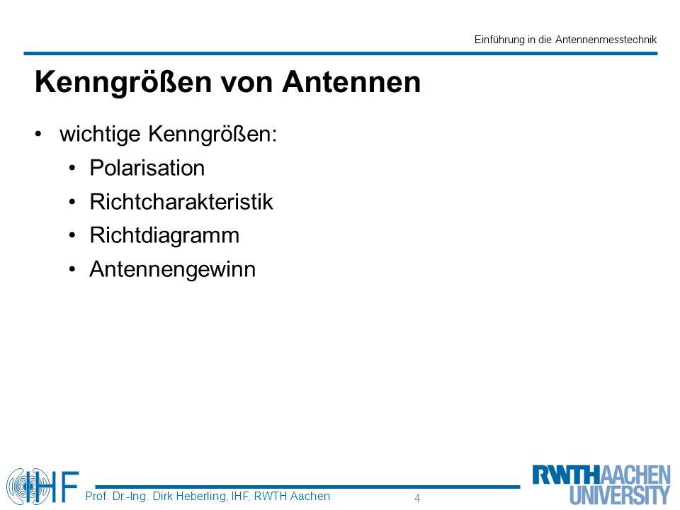 Einführung in die Antennenmesstechnik Prof. Dr.-Ing.