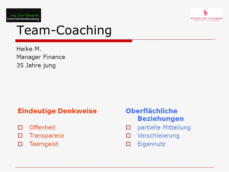 Team-Coaching Heike M.
