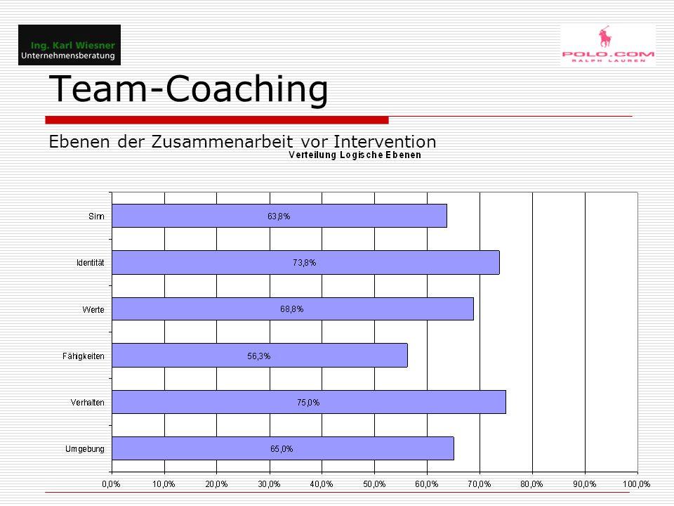 Team-Coaching Ebenen der Zusammenarbeit vor Intervention