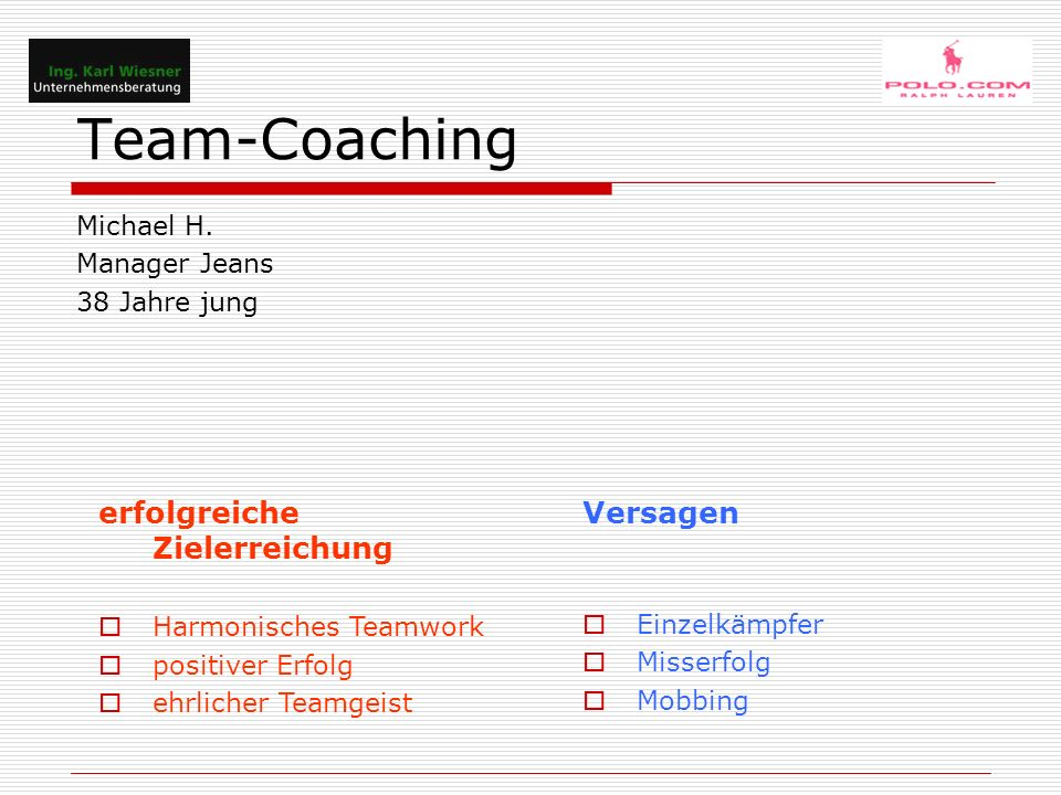 Team-Coaching Michael H.