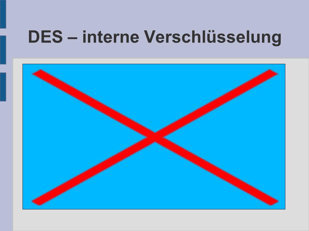 DES – interne Verschlüsselung