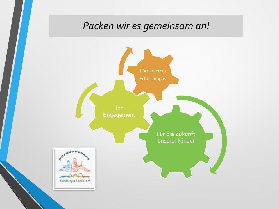 Packen wir es gemeinsam an! Für die Zukunft unserer Kinder Ihr Engagement Förderverein Schulcampus