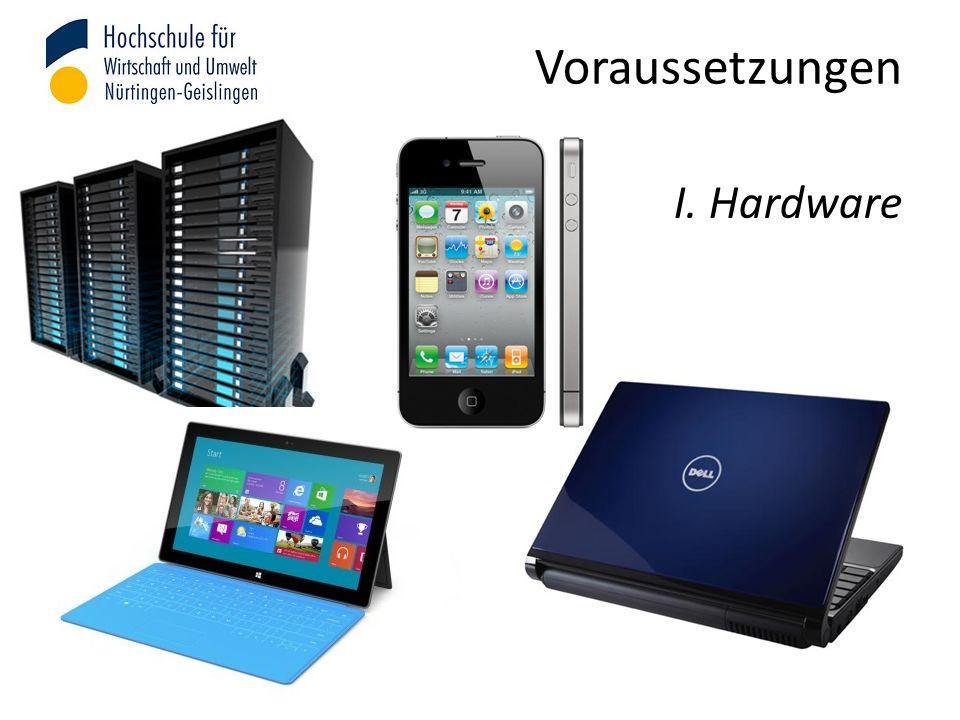 Voraussetzungen I. Hardware