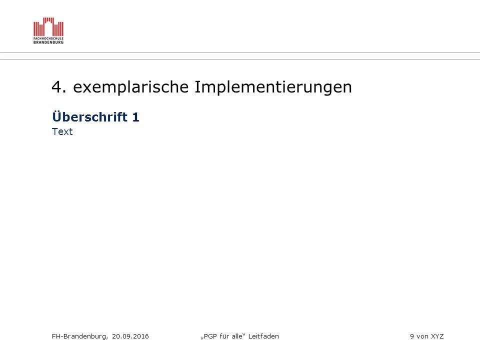 """FH-Brandenburg, 20.09.2016""""PGP für alle Leitfaden9 von XYZ 4."""