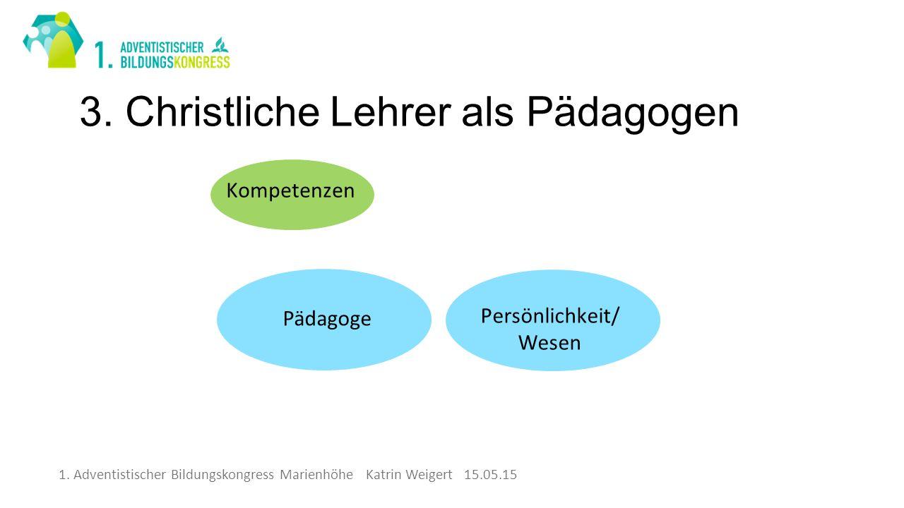 1. Adventistischer Bildungskongress Marienhöhe Katrin Weigert 15.05.15 3.