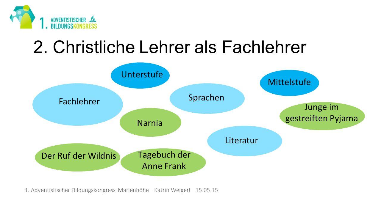 1. Adventistischer Bildungskongress Marienhöhe Katrin Weigert 15.05.15 2.