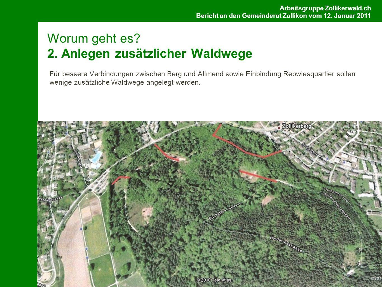Arbeitsgruppe Zollikerwald.ch Bericht an den Gemeinderat Zollikon vom 12.