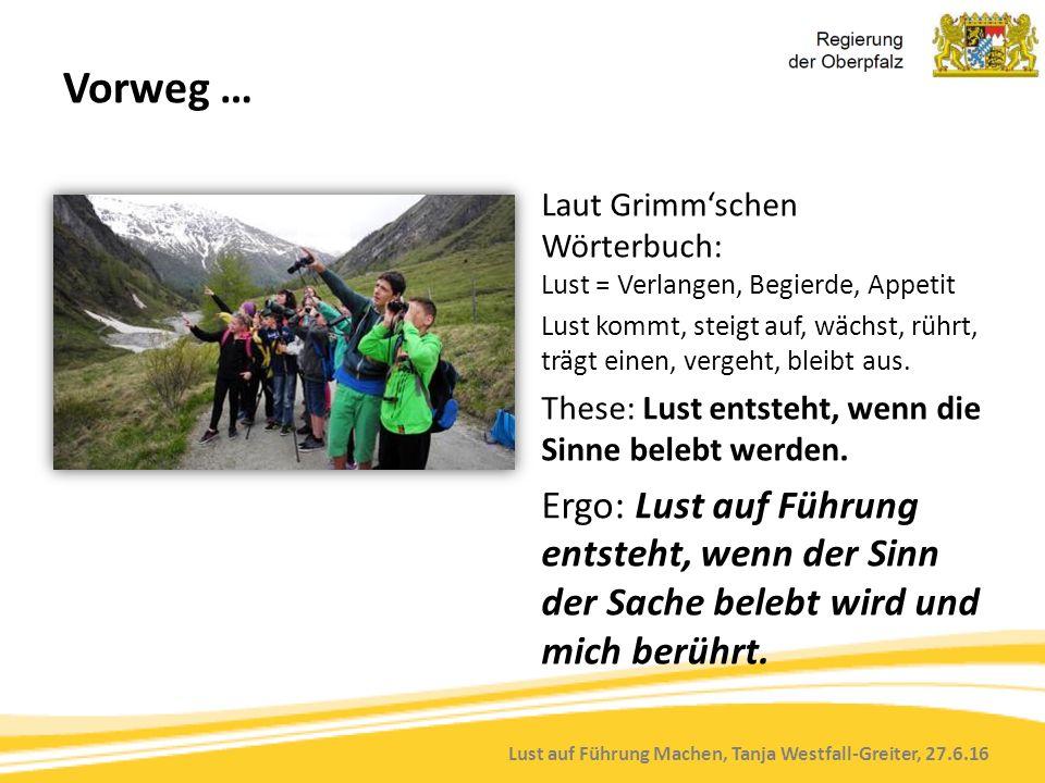 Lust auf Führung Machen, Tanja Westfall-Greiter, 27.6.16 Schule als Gemeinschaft.