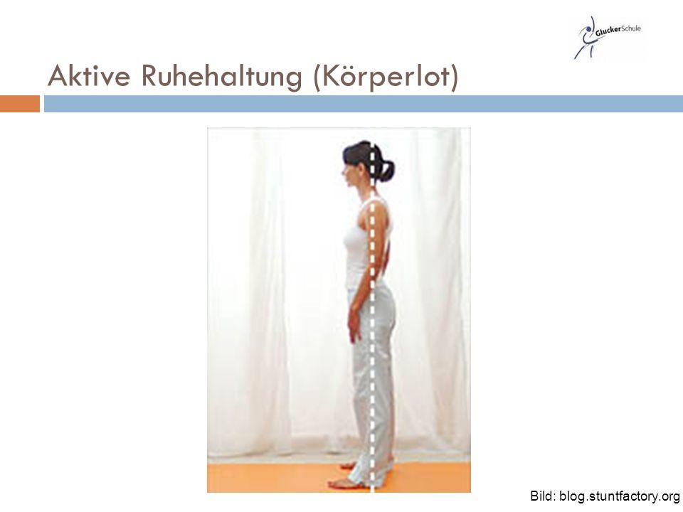Aktive Ruhehaltung (Körperlot) Bild: blog.stuntfactory.org