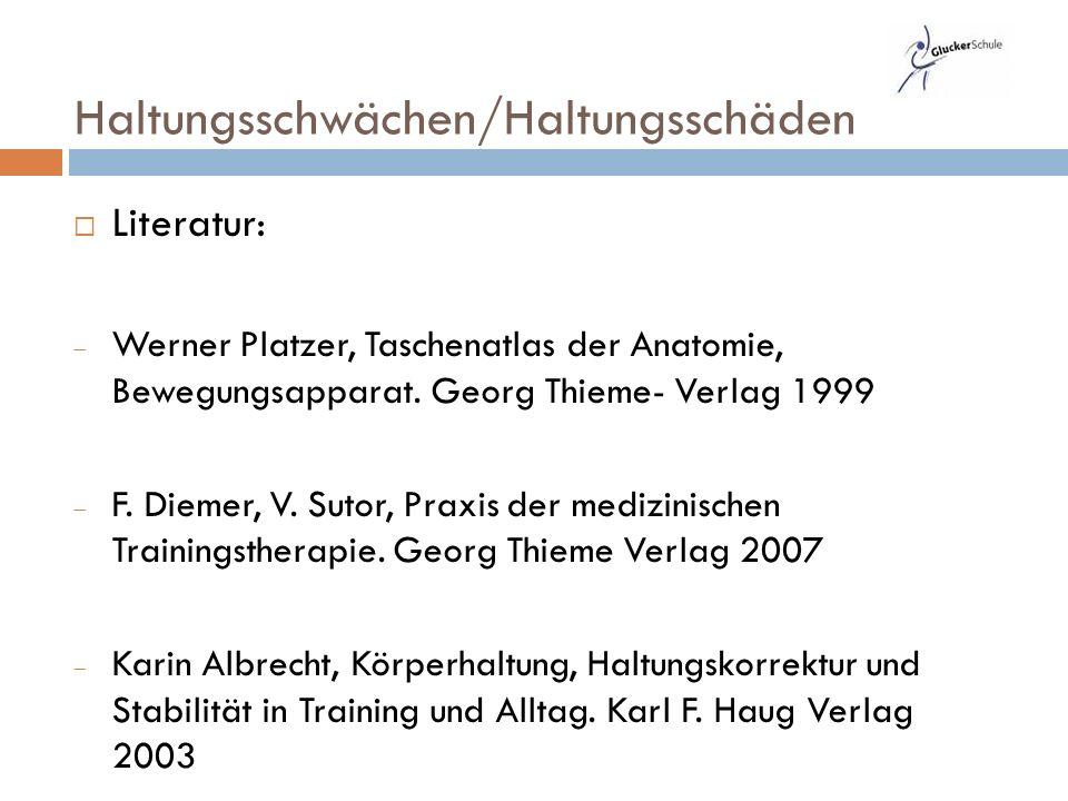  Literatur:  Werner Platzer, Taschenatlas der Anatomie, Bewegungsapparat.