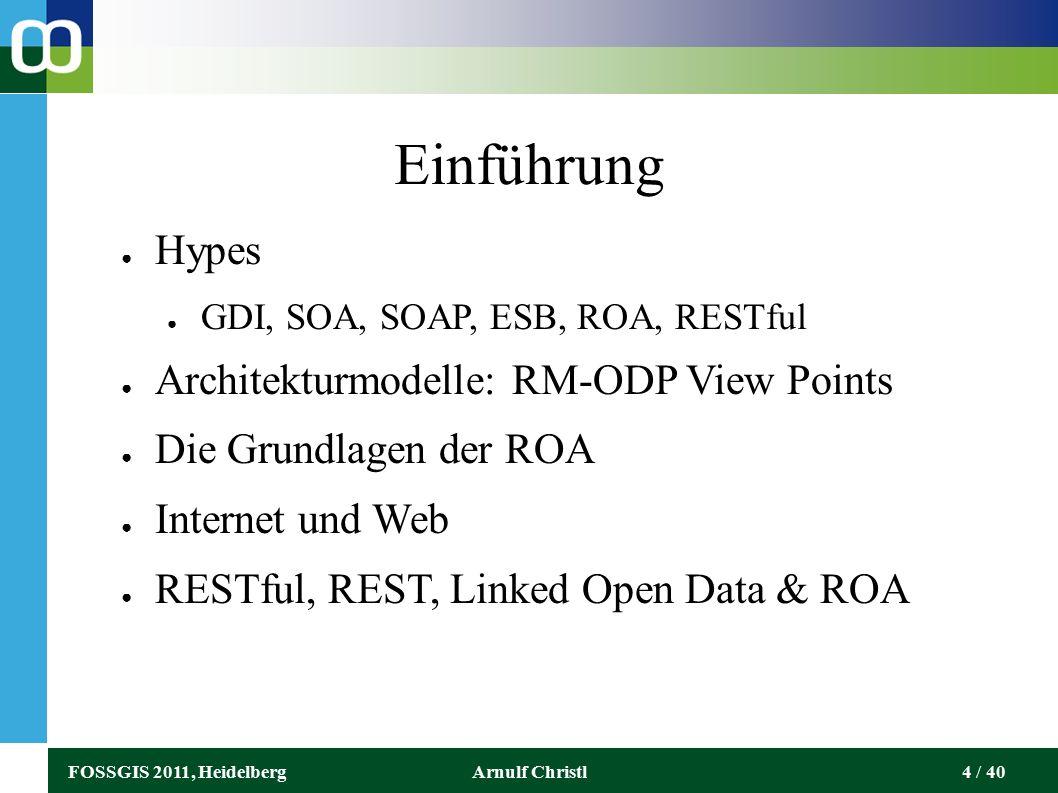 FOSSGIS 2011, HeidelbergArnulf Christl25 / 40 Webseiten können verschiedene Adressen (URL) haben.