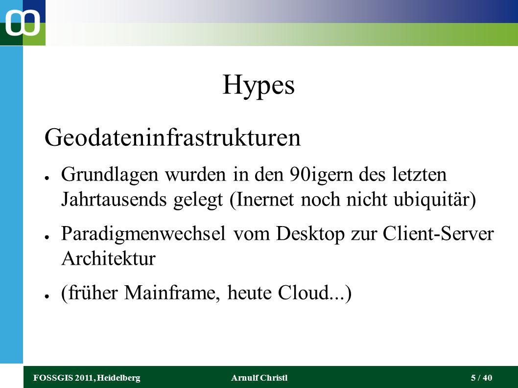 FOSSGIS 2011, HeidelbergArnulf Christl26 / 40 Die Flexibilität des DNS Die private Webseite des Autors ist über folgenden URL (und wahrscheinlich viele weitere) erreichbar: http://arnulf.us http://www.arnulf.us http://arnulf.us/Main_Page http://arnulf.us/Runder_tisch_gis/introduction_to_the_Web http://bit.ly/arnulf_christl http://zpatial.org http://r32916.ovh.net http://94.23.196.65 http://178.32.100.197/