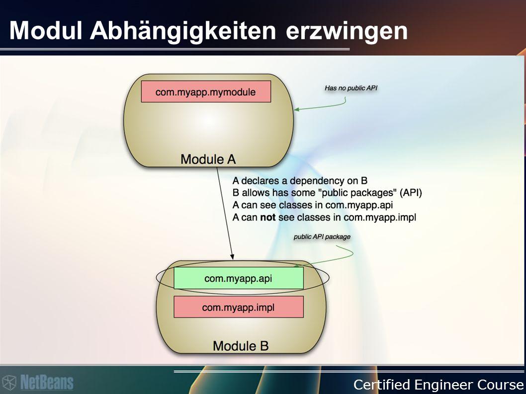 Certified Engineer Course Modul Abhängigkeiten erzwingen