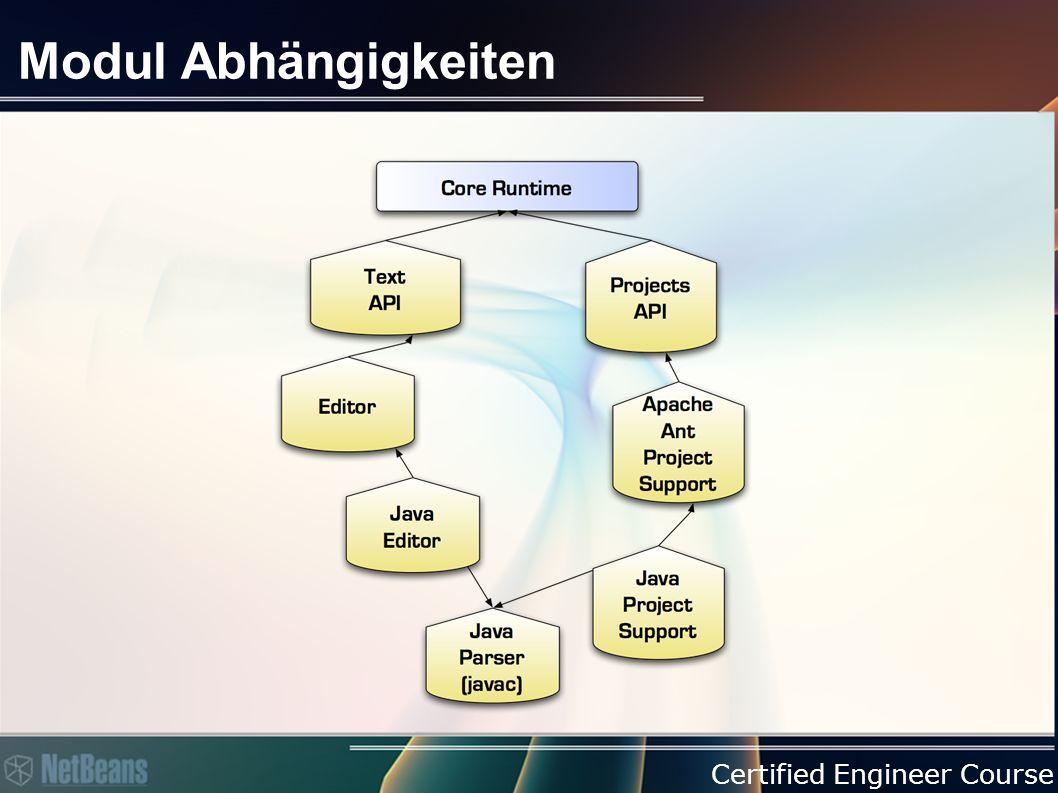 Certified Engineer Course Modul Abhängigkeiten
