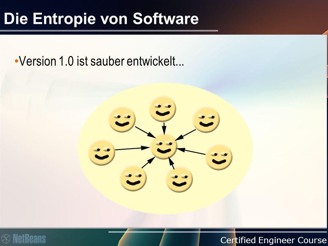 Certified Engineer Course Die Entropie von Software Version 1.0 ist sauber entwickelt...