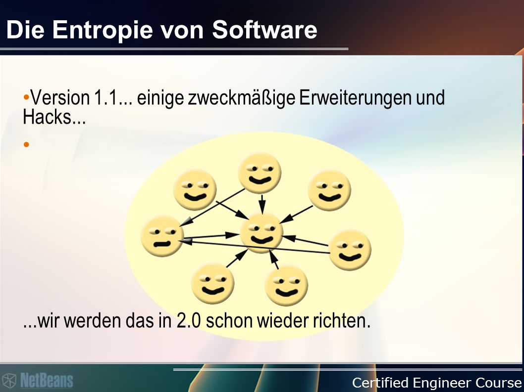 Certified Engineer Course Die Entropie von Software Version 2.0...nun ja...aber...es läuft!