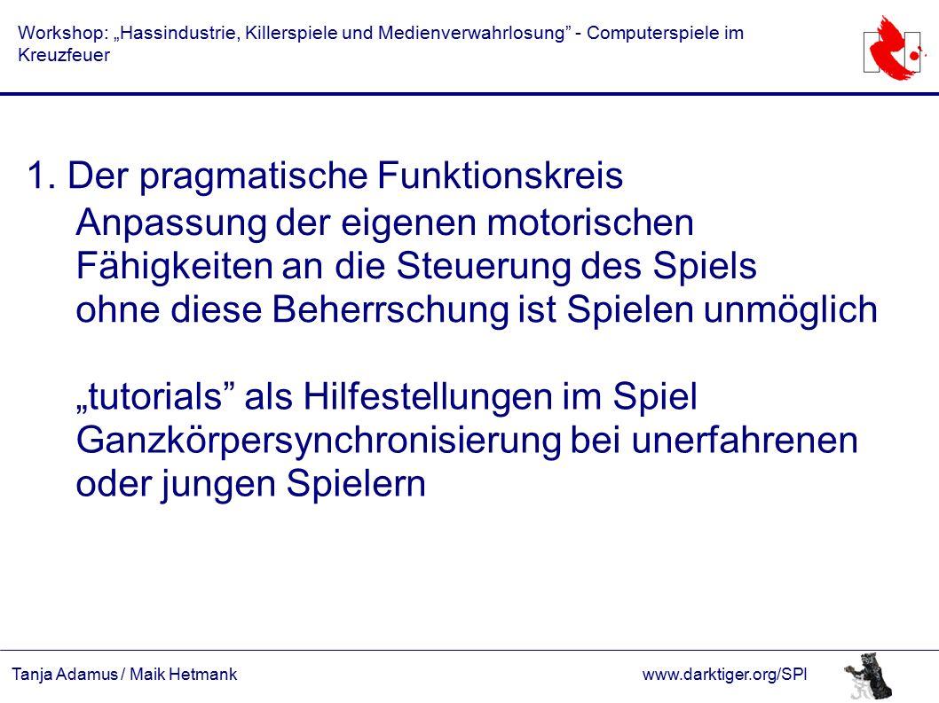 """Tanja Adamus / Maik Hetmankwww.darktiger.org/SPI Workshop: """"Hassindustrie, Killerspiele und Medienverwahrlosung - Computerspiele im Kreuzfeuer 1."""