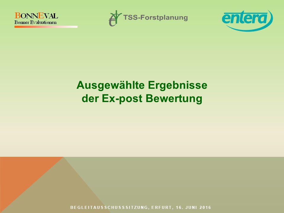 BEGLEITAUSSCHUSSSITZUNG, ERFURT, 16. JUNI 2016 Ausgewählte Ergebnisse der Ex-post Bewertung