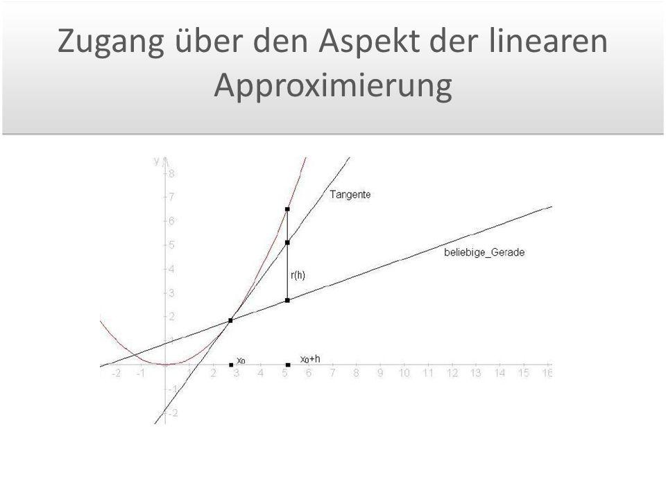 Zugang über den Aspekt der linearen Approximierung
