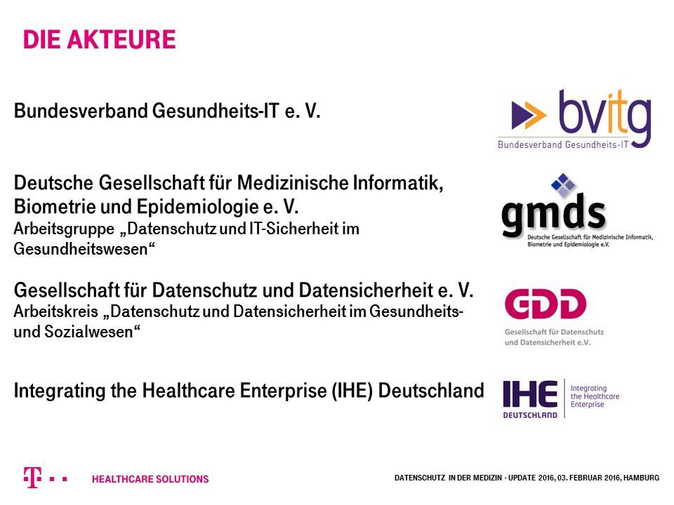 Die Akteure Bundesverband Gesundheits-IT e. V. Gesellschaft für Datenschutz und Datensicherheit e.