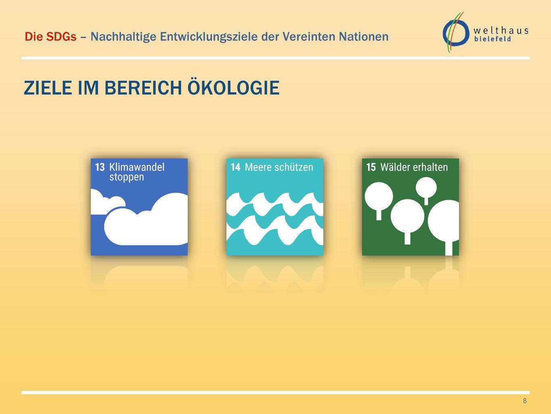 Die SDGs – Nachhaltige Entwicklungsziele der Vereinten Nationen ZIELE IM BEREICH WIRTSCHAFT 9