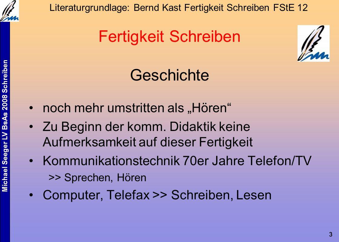 """Michael Seeger LV BsAs 2008 Schreiben 3 Fertigkeit Schreiben Geschichte noch mehr umstritten als """"Hören Zu Beginn der komm."""
