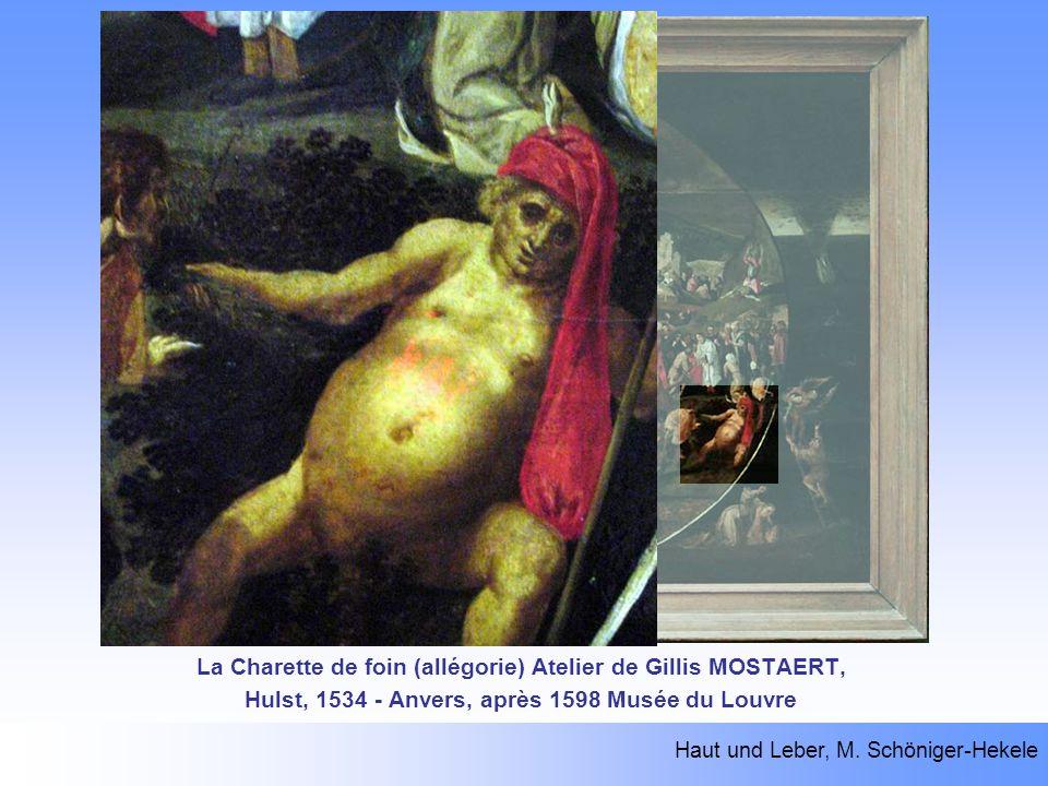La Charette de foin (allégorie) Atelier de Gillis MOSTAERT, Hulst, 1534 - Anvers, après 1598 Musée du Louvre Haut und Leber, M. Schöniger-Hekele