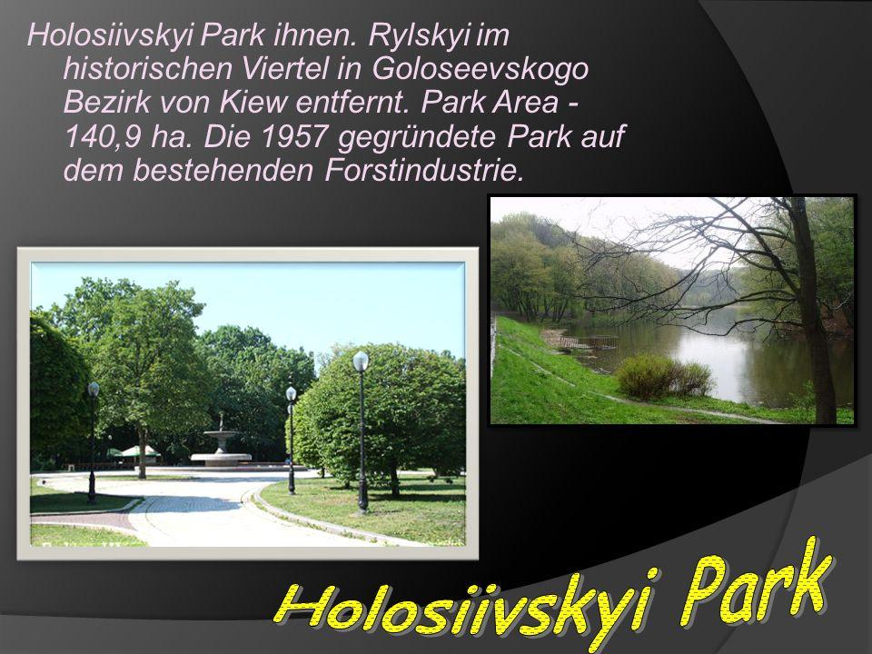 Holosiivskyi Park ihnen. Rylskyi im historischen Viertel in Goloseevskogo Bezirk von Kiew entfernt.
