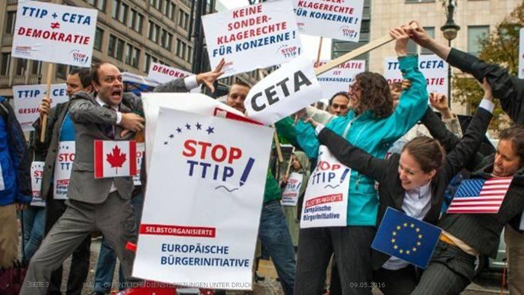 Unumkehrbarer Liberalisierungs- und Privatisierungsdruck auf die Daseinsvorsorge EU governments remain entirely free to manage public services as they wish (EU Kommission, 2015) SEITE 4MAYR, ÖFFENTLICHE DIENSTLEISTUNGEN UNTER DRUCK.