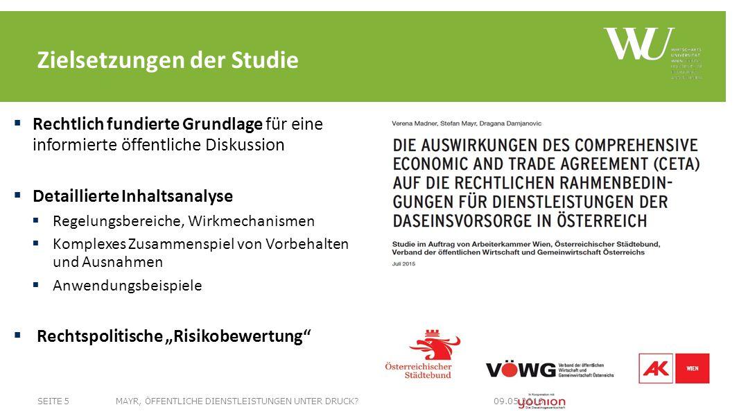 List it or lose it Negativliste Keine generelle Ausnahme für öffentliche DL GATS-minus Investitions- schutz & ICS Standstill & Ratchet Blaupause für TTIP.