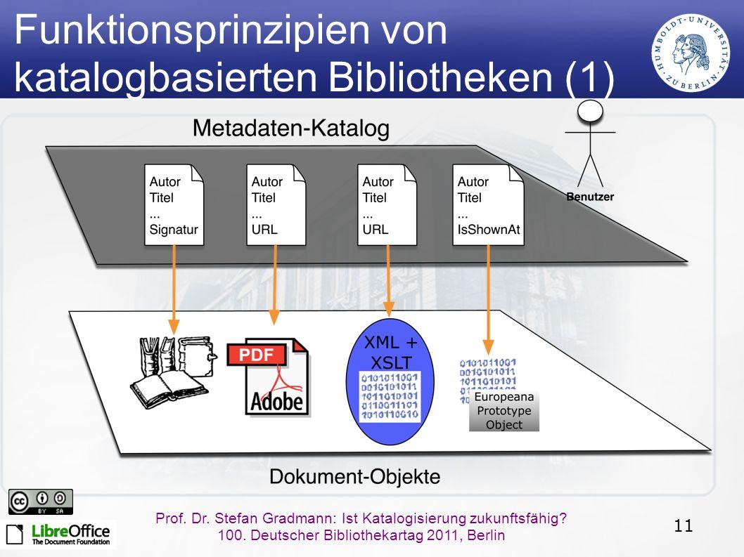 11 Prof. Dr. Stefan Gradmann: Ist Katalogisierung zukunftsfähig.