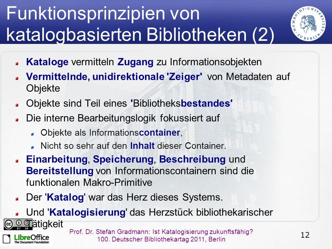 12 Prof.Dr. Stefan Gradmann: Ist Katalogisierung zukunftsfähig.