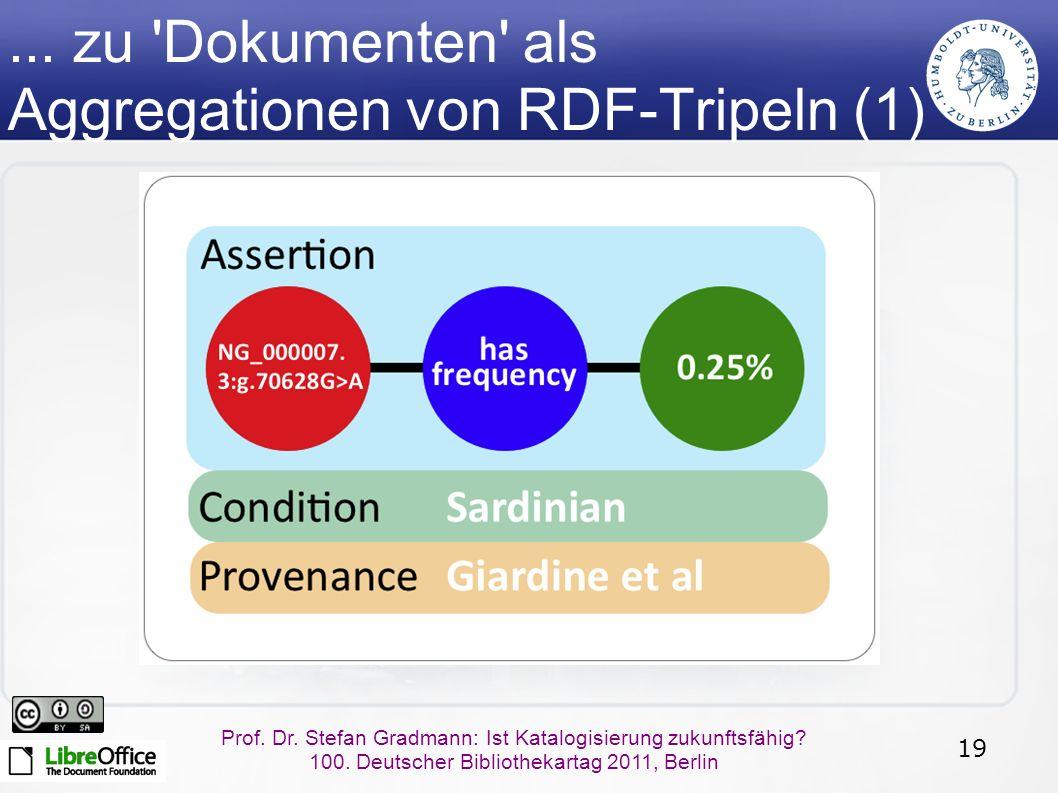 19 Prof.Dr. Stefan Gradmann: Ist Katalogisierung zukunftsfähig.