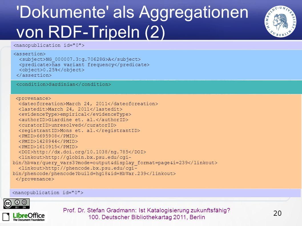 20 Prof. Dr. Stefan Gradmann: Ist Katalogisierung zukunftsfähig.
