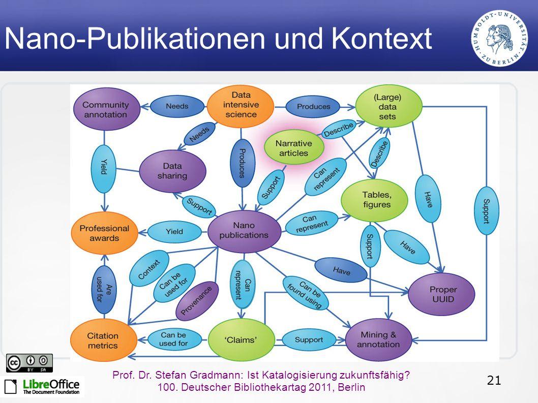 21 Prof. Dr. Stefan Gradmann: Ist Katalogisierung zukunftsfähig.