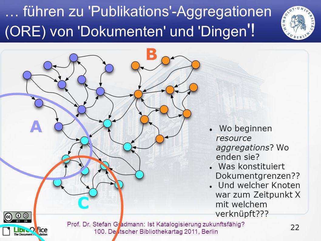 22 Prof. Dr. Stefan Gradmann: Ist Katalogisierung zukunftsfähig.