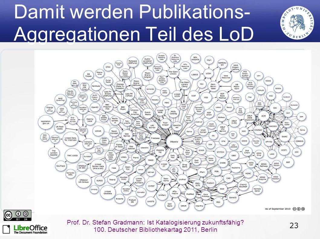 23 Prof.Dr. Stefan Gradmann: Ist Katalogisierung zukunftsfähig.