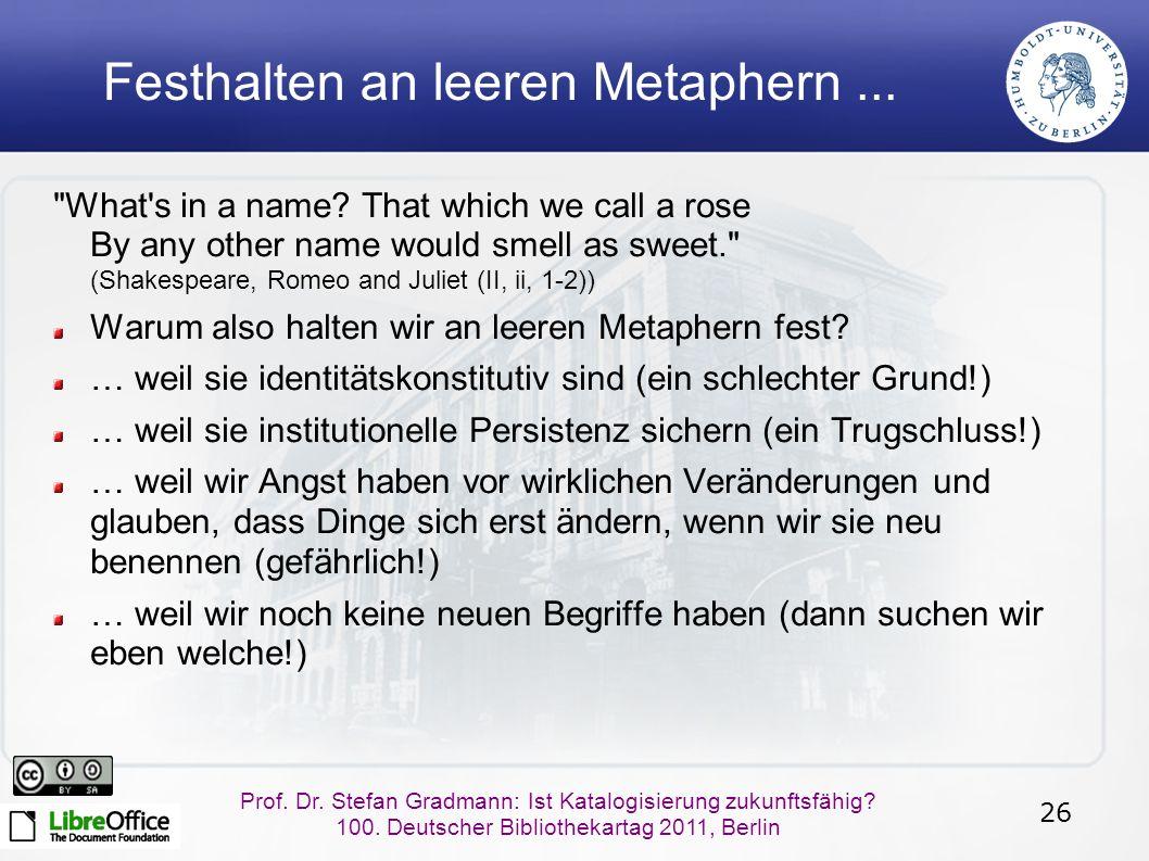 26 Prof. Dr. Stefan Gradmann: Ist Katalogisierung zukunftsfähig.
