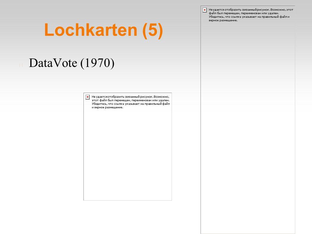 Lochkarten (5) DataVote (1970)