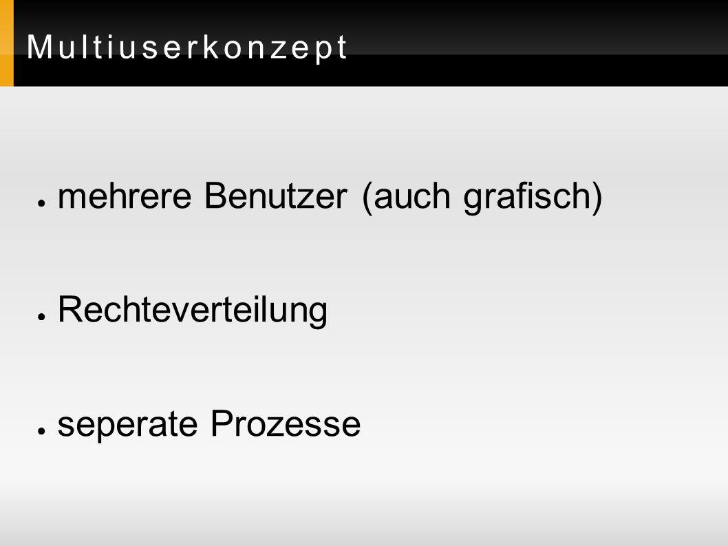 Arten von Benutzern root ( admin ) normale Benutzer Systembenutzer (Pseudo-Benutzer)