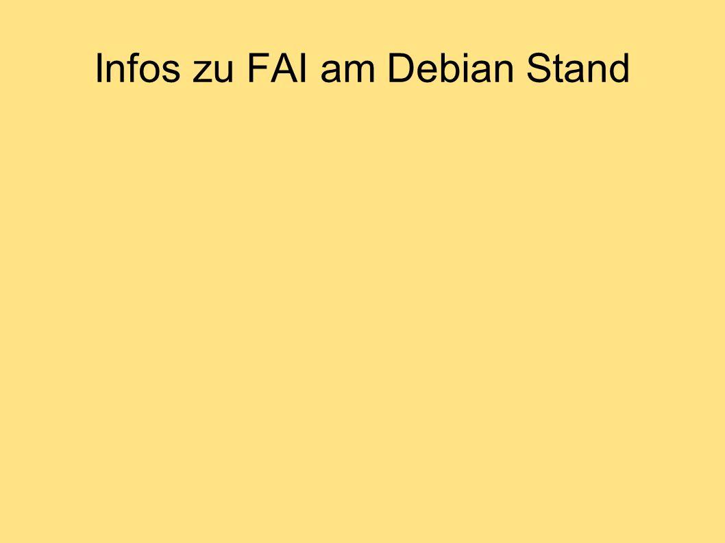 Infos zu FAI am Debian Stand