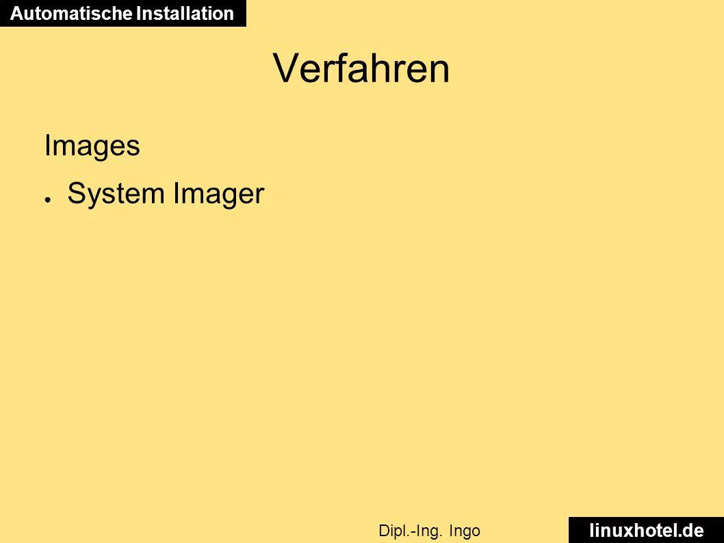 Verfahren Images ● System Imager Automatische Installation linuxhotel.de Dipl.-Ing. Ingo Wichmann