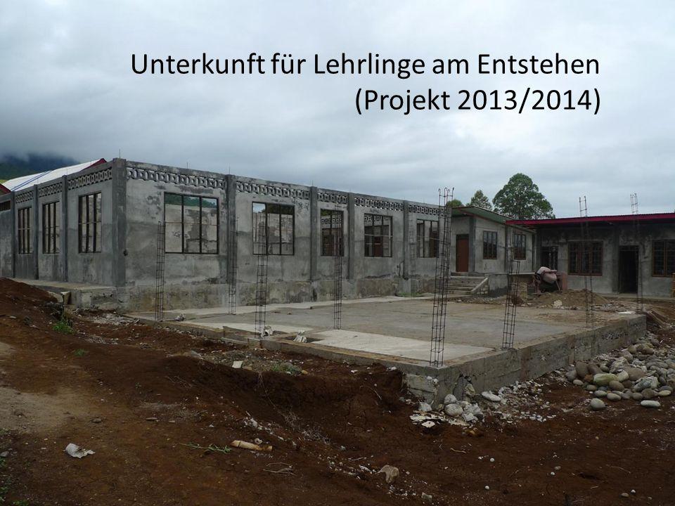 Unterkunft für Lehrlinge am Entstehen (Projekt 2013/2014)