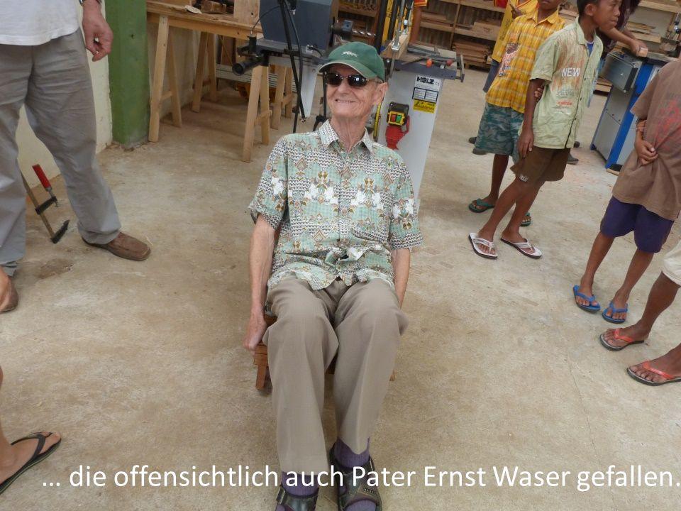 … die offensichtlich auch Pater Ernst Waser gefallen.