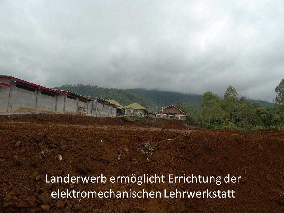 Landerwerb ermöglicht Errichtung der elektromechanischen Lehrwerkstatt