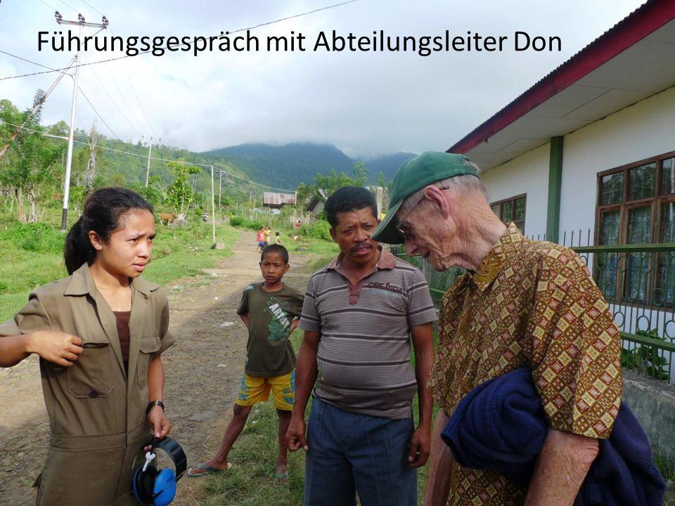 Führungsgespräch mit Abteilungsleiter Don