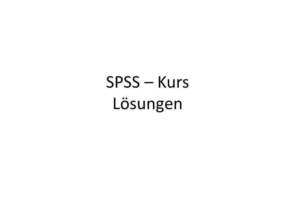 SPSS – Kurs Lösungen